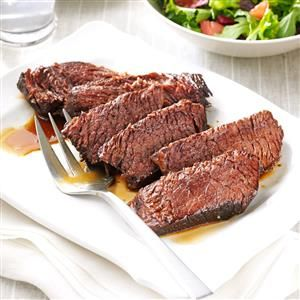 Marinated Chuck Roast Recipe -It's the simple marinade of orange juice, soy sauce, brown sugar and Worcestershire sauce that makes this beef roast so tasty and tender. —Mary Lee Baker, Enon, Ohio
