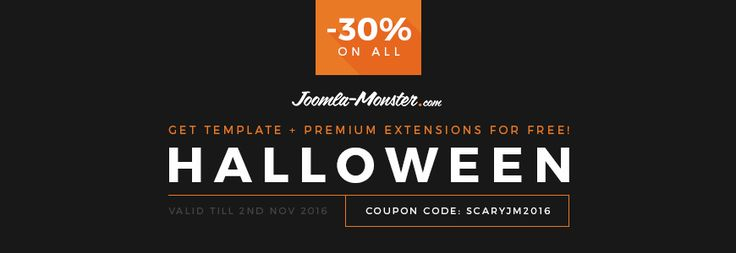 Last chance to save 30% on #Joomla #templates! Missing this bloody #discount would be a monster of a mistake!