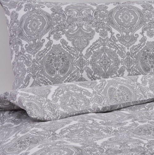 Ikea Skorpil King Size Duvet Set, 240 x 220, Grey & White, 4 Pillowcases
