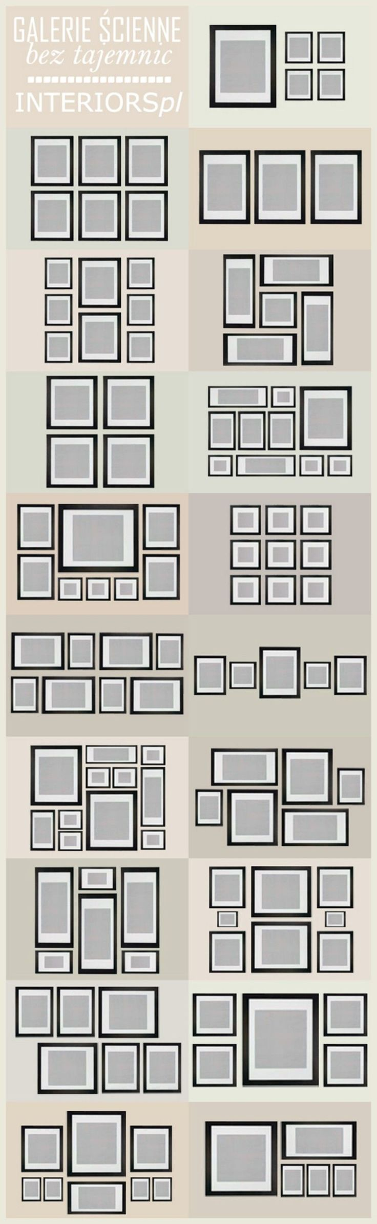 24. Plan a gallery wall - 50 Amazingly Clever Cheat Sheets To Simplify Home Decorating Projects