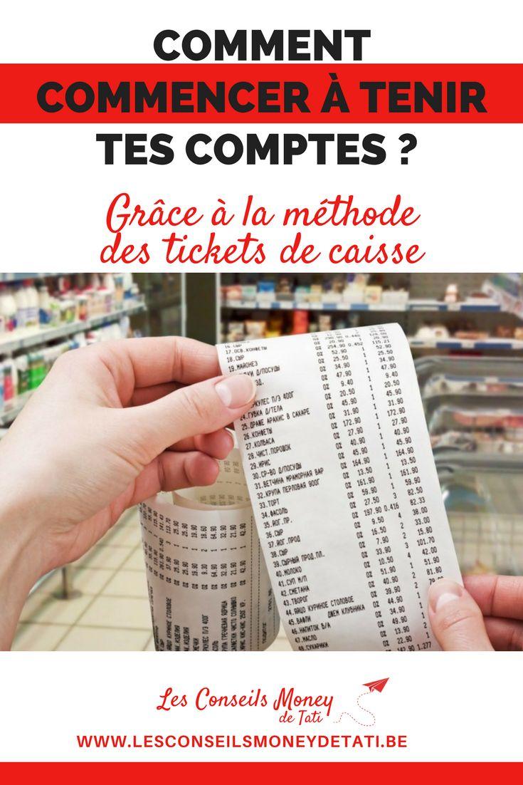 Comment tenir tes comptes grâce aux tickets de caisse. www.lesconseilsmoneydetati.be