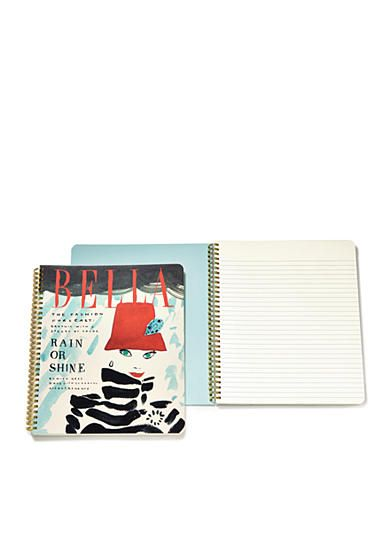 kate spade new york® Bella Spiral Notebook - Put a little pep in your work day, study session or laundry list with this large spiral notebook in artsy deco dots. With 160 lined pages, it's fit to hold a day's worth of lists and doodles and will pack a punch next to your floral skirt.