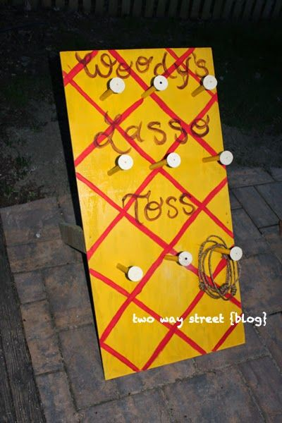 Toy Story Birthday Party: Woody's Lasso Toss Game