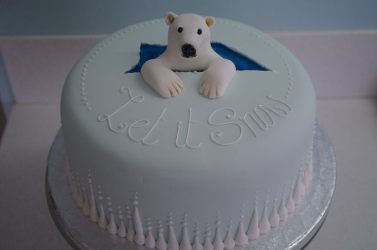 polar bear cake - Google Search
