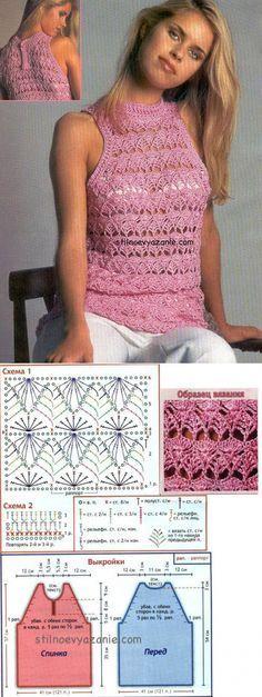 Irish crochet &: CROCHET TOP.