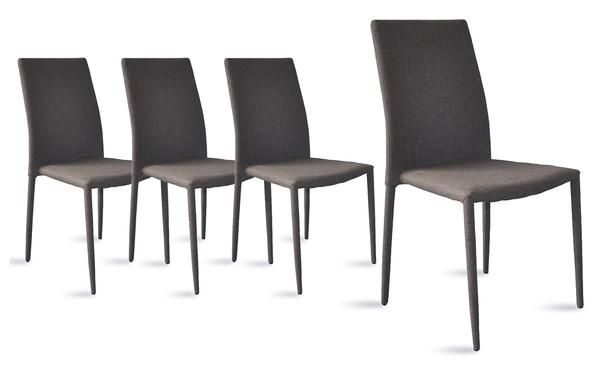 Jazz Modern 4 Set Chairs In Grey Dining Chairs Dinning Room Chairs Fabric Dining Chairs