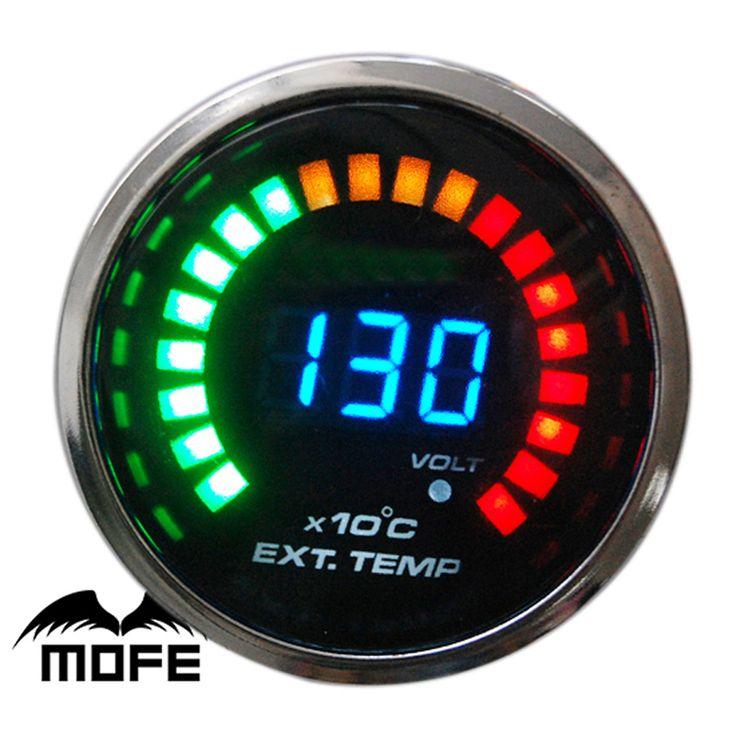 MOFE Original Logo Smoke Lens 20 LED Digital 52mm Exhaust Gas Temperature Gauge Meter With Sensor