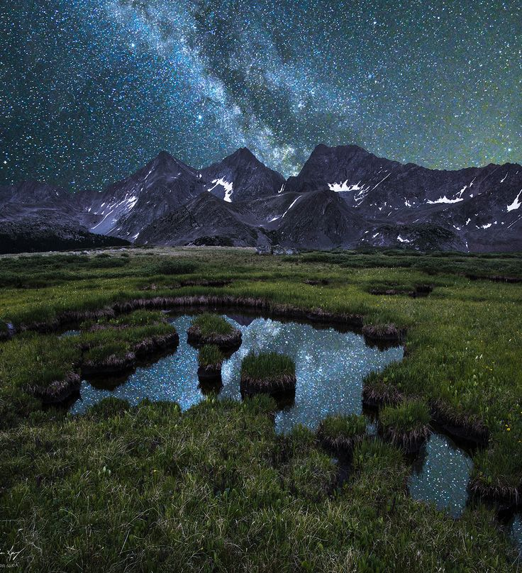 Milky Way over the 3 Apostles, Collegiate Peaks Wilderness, Colorado - Mountain photography by Aaron Spong