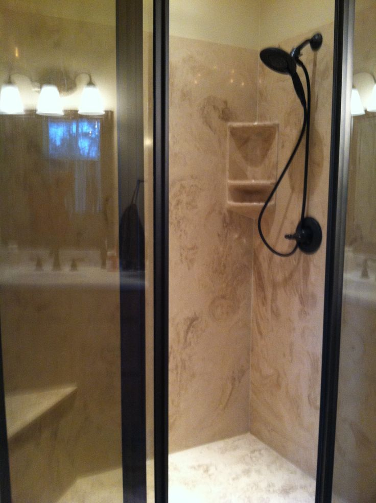 Superior Cultured Marble Shower   Solid Surface   Cost Effective Price   Easy To  Clean