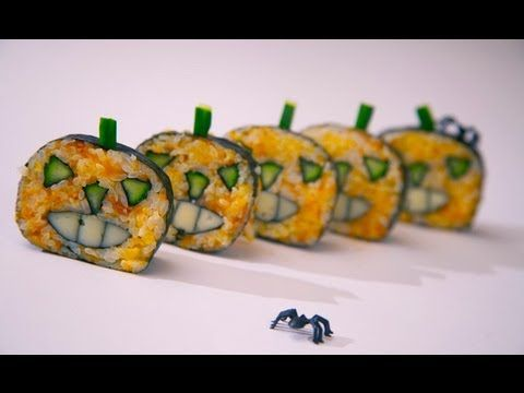 Como preparar sushi maki para Halloween / How to make Halloween Sushi