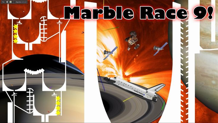 Marble Race 9 Algodoo Space Edition - KP's Marble Madness