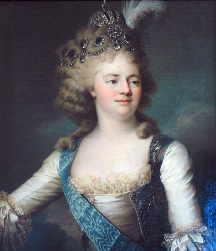 1790s Tsaritsa Maria Feodovna by Jean Louis Voille (Russian Museum, St. Petersburg)