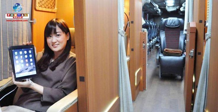 Ônibus de longa distância com compartimentos privados ganham popularidade no Japão