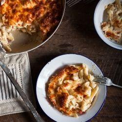 Gratin de pâtes au fromage - Recette | Trois fois par jour