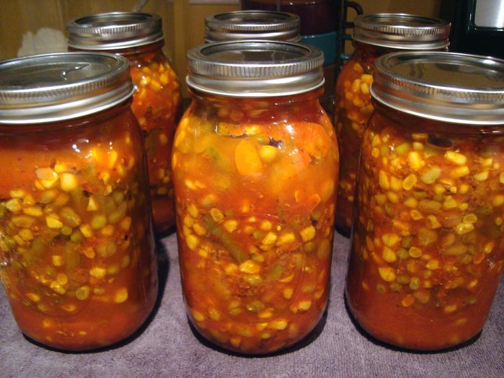 Pressure Canning Vegetable Beef Soup.  Found on Leigh Ann Connell site...great canning connections!!!