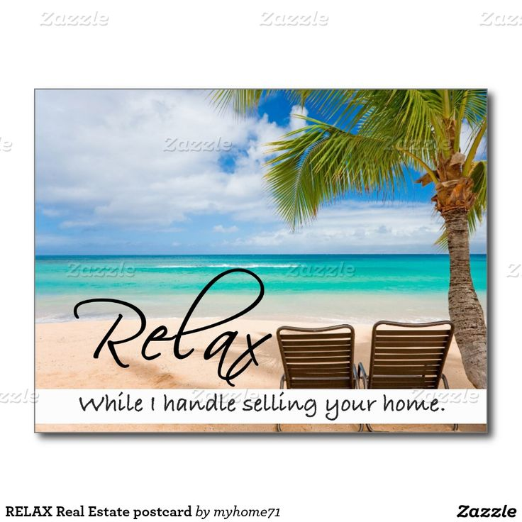RELAX Real Estate postcard                                                                                                                                                                                 More