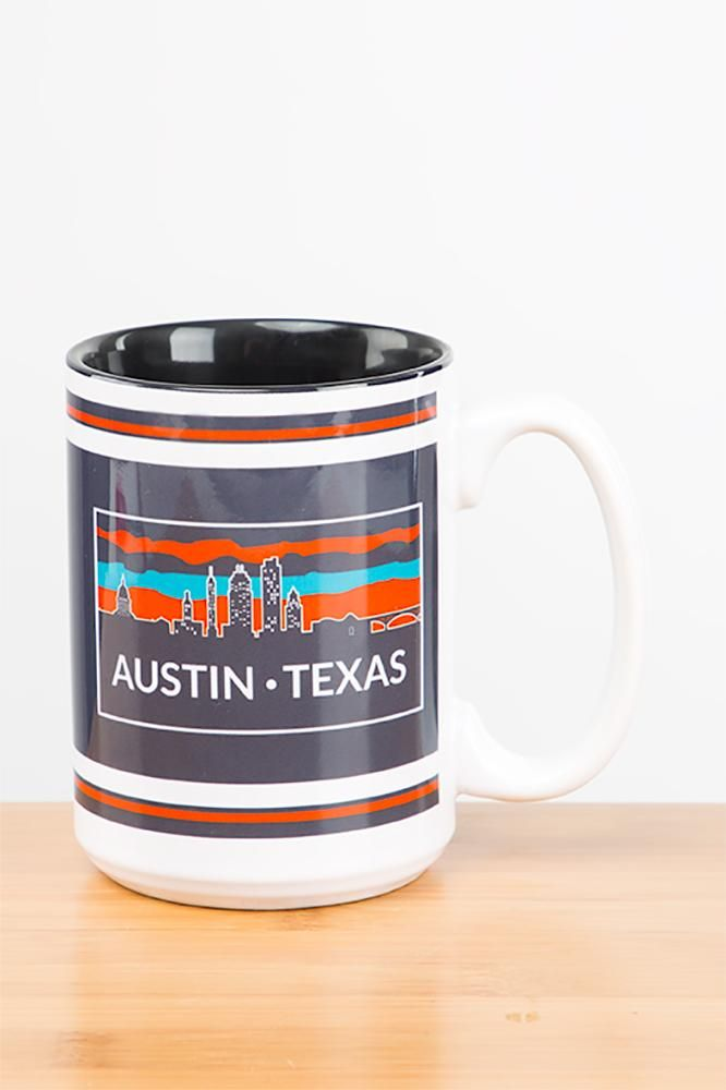 Drink to the best capital city in the world with the Austin Texas Downtown Skyline Mug! This 15 oz mug is sure to be your morning go to. Order yours now!