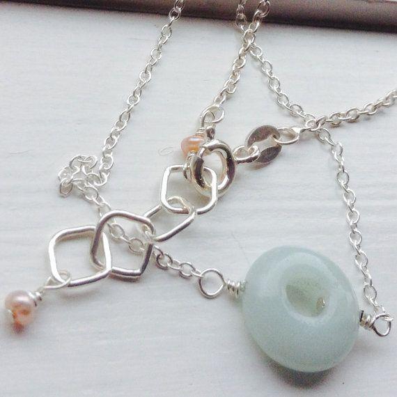 Amazonite  Donut Bracelet  bridemaids bracelet by MingJewelsChic