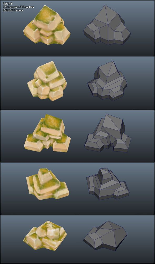 Low Poly Rocks - 3DOcean Item for Sale