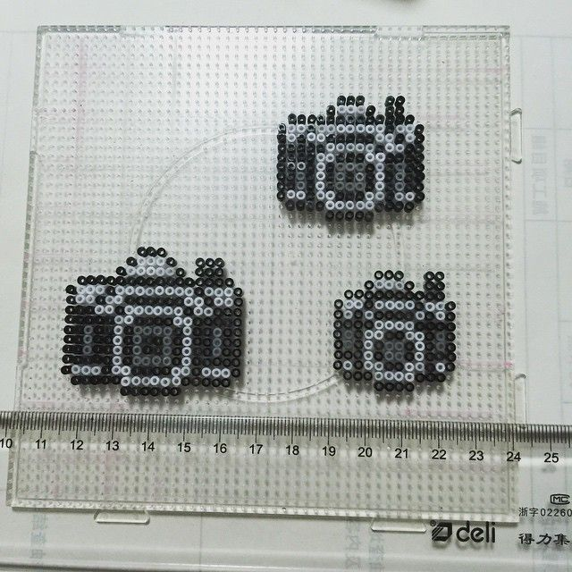 Cameras perler beads by zuiaiboluo