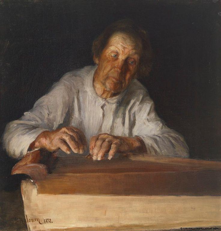 Pekka Halonen (1865-1933) Kanteleensoittaja / The Kantele Player 1892 - Finland