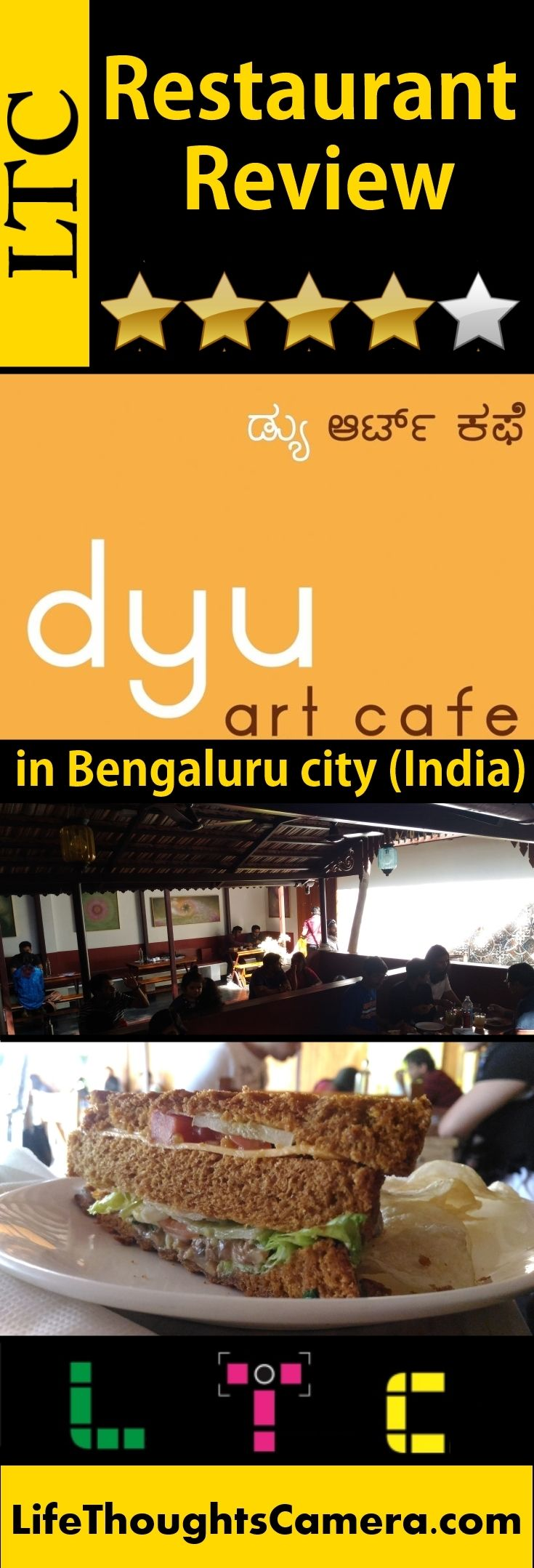 "Restaurant Review : ""Dyu Art Cafe"" in Koramangala, Bengaluru city (India) 