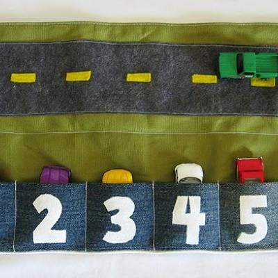 DIY Gifts: Sew a Car Caddy  I just adore this fabulous DIY gift of sewing a car caddy. It also folds up into a nice little square so it's perfect for the Doctor's office, play dates, and church!  All little boys will love this as an amazing homemade gift.