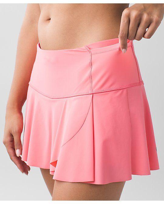 d7312f5056 Lululemon - Hit Your Stride Skirt Sizes: 2-10 Regular Only Color: Pink  Lemonade Released: February 2016 Cos… | Lululemon - Hit Your Stride Skirt |  Runni…