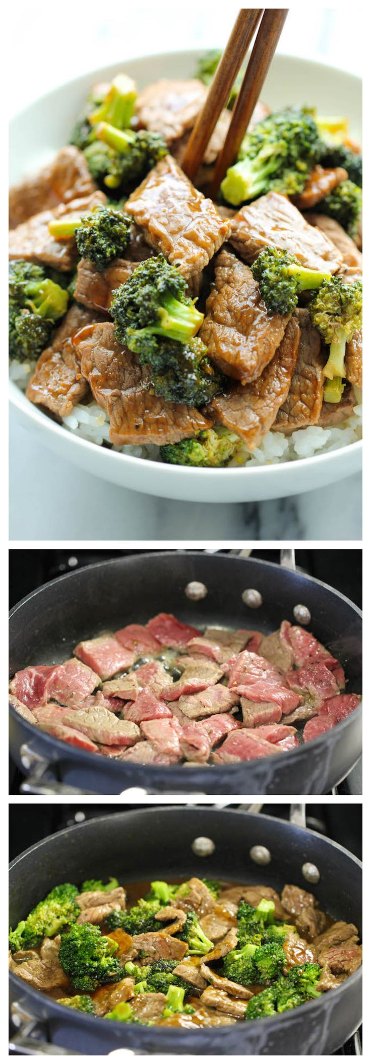 Easy Beef and Broccoli - made in just 15 min - quicker, cheaper and healthier than take-out!  Voedingscoach Marlo Wagner - Praktijk voor voedingscoaching en Beweegadvies