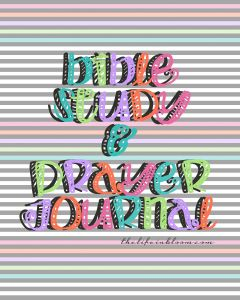 Bible Study & Prayer Journal from @TheLifeinBloom