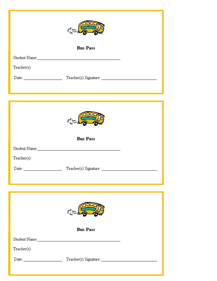 hall pass template for teachers