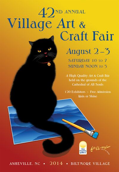 567 best cats in advertising images on pinterest for Biltmore village art craft fair