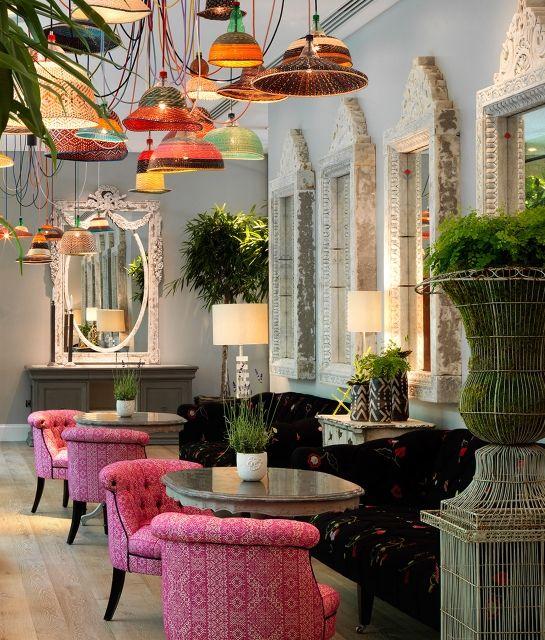 Ham Yard Interior Design Lounge Bar Ceiling Lamp