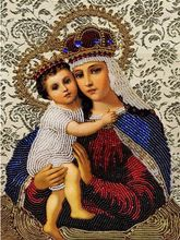 DIY 3D Needlework Diamond Embroidery Fashion Religion Paintings Virgin Mary jesus christ images Figurine Cross Stitch kit Crafts