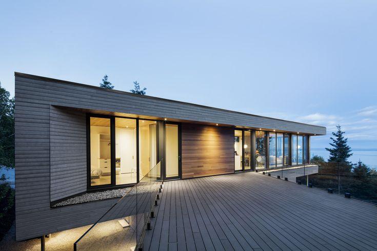 V-Shaped Residence in Coastal Québec - http://freshome.com/V-shaped-residence-Quebec/