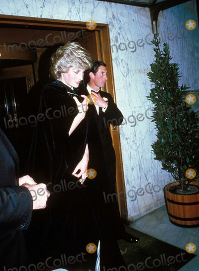 May 20, 1985:  Prince Charles & Princess Diana leaving her brother's 21st party at Mirrabelle Restaurant in London.  Photo By:alpha-Globe Photos, Inc