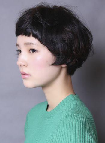 マニッシュショートボブです。 前髪も短くしてあって、とてもオシャレ。