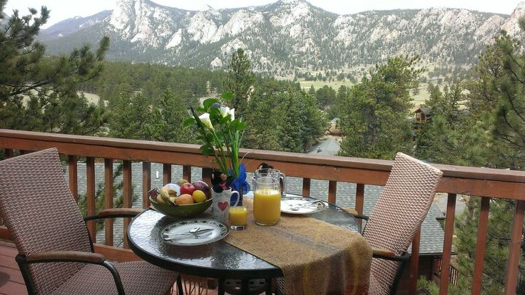 This Black Canyon Chalet (Licensed Estes Park #1013) 2 bedroom, 1 ½ bath condo provides all the comforts of home with a setting that defines Rocky Mountain National Park. The condo is nestled behind the Stanley Hotel ...