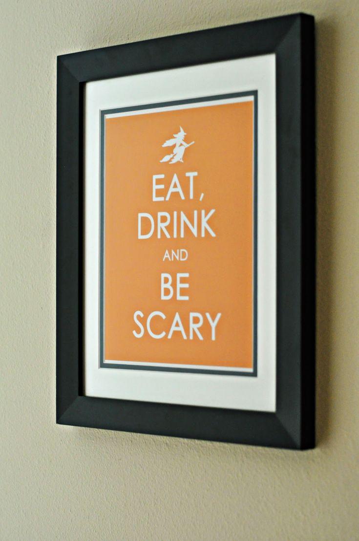 Free printables: Halloween Stuff, Halloween Parties, Halloween Decor, Free Halloween, Halloween Printable, Keep Calm, Free Printable, Drinks, Halloween Signs
