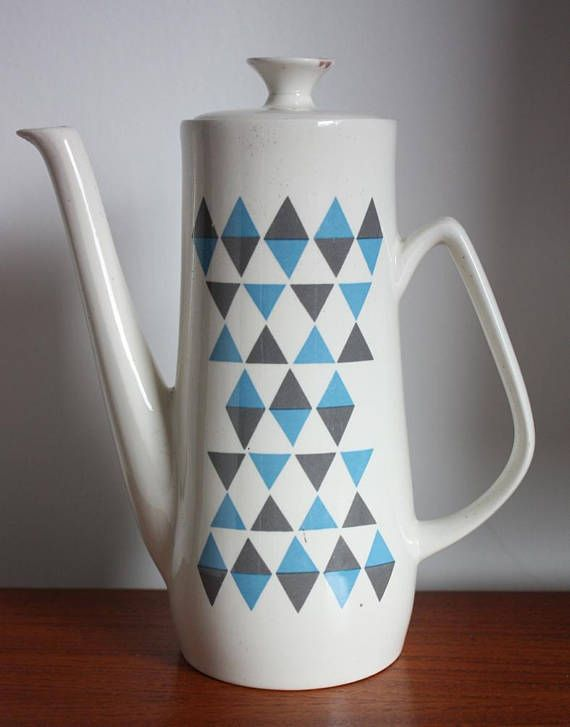 1960s Empire Porcelain Company 'Checkmate' Coffee Pot