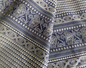 Blocco stampa tessuto tessuto indiano tessuto di FibersToFabric