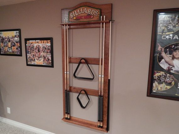 Diy Pool Cue Holders Pool Cue Stick Holder Game Room