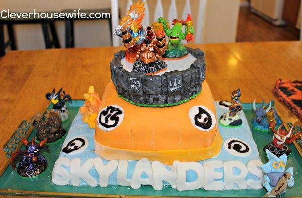 Skylanders Cake For Twins 7th Birthday 7 Year Olds