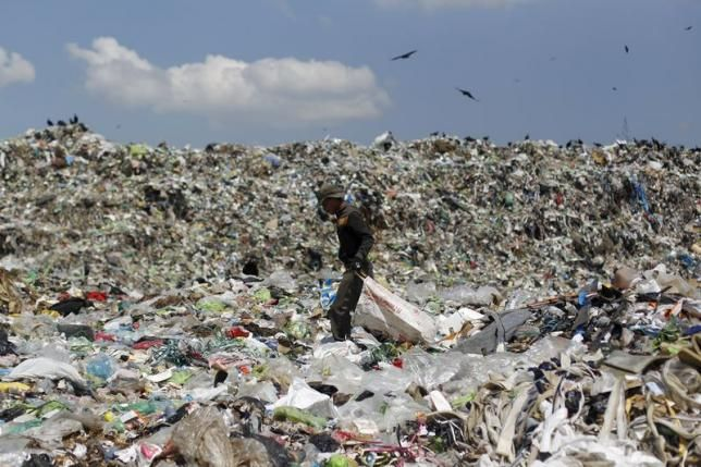 A man looks for usable items in a dumpsite on the outskirts of Tegucigalpa, April 17, 2015. REUTERS/Jorge Cabrera Honduras most dangerous country for environmental activists - report