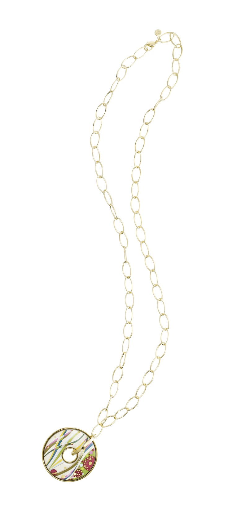 It will look perfect with a simple, white shirt!  Luna Piena necklace, Floral Symphony - First Love collection, FREYWILLE, Baneasa Shopping city