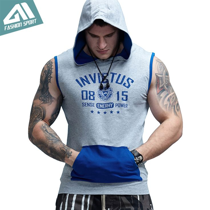 ==> [Free Shipping] Buy Best Aimpact GYM Workout Men's Sleeveless Hoodies Patchwork Bodybuilding Train Fitness Contrast Sport Pocket Tank Top 1011 Online with LOWEST Price | 32822380954