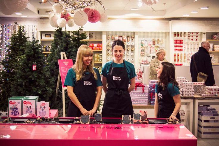 Santa Stamp staff at Selfridges Christmas Emporium