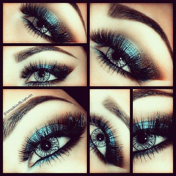 Eye makeup, blue