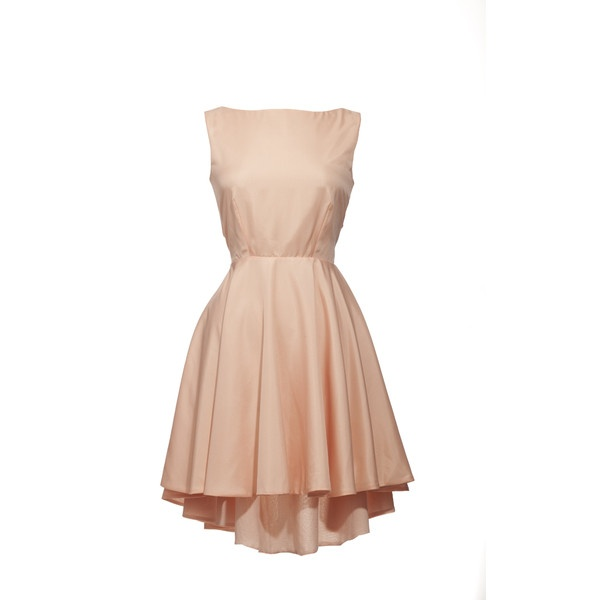 Annaeva Open Back Dress With Bow - Powder ❤ liked on Polyvore