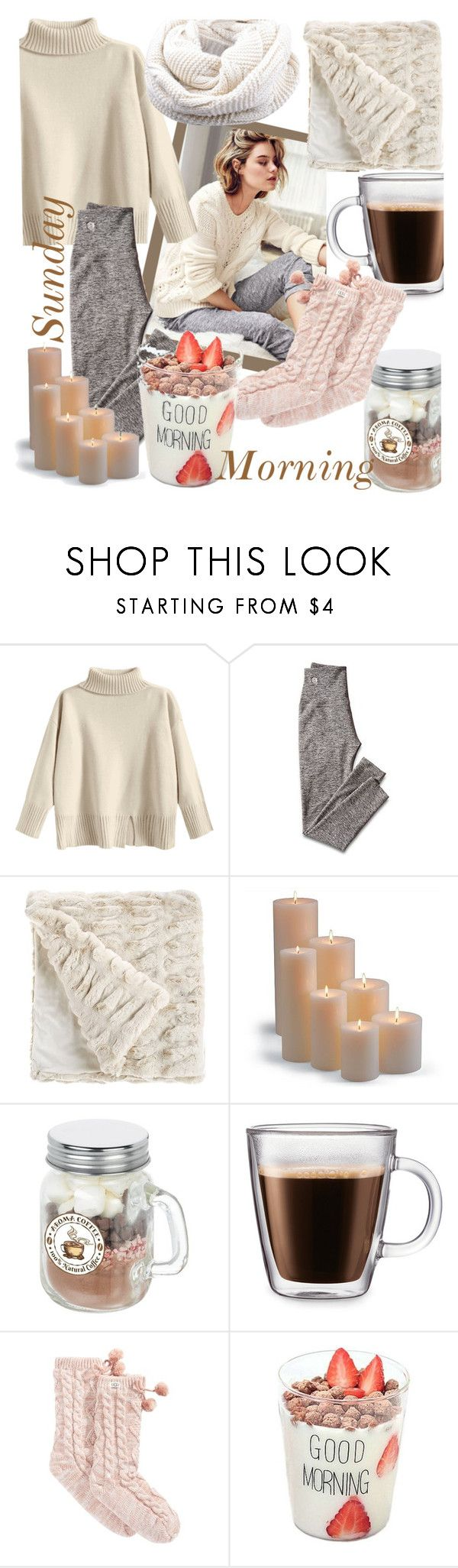 """Rainy Sunday Morning"" by babett-beattie ❤ liked on Polyvore featuring Homewear, Mark & Graham, Fabulous-Furs, Frontgate and UGG"
